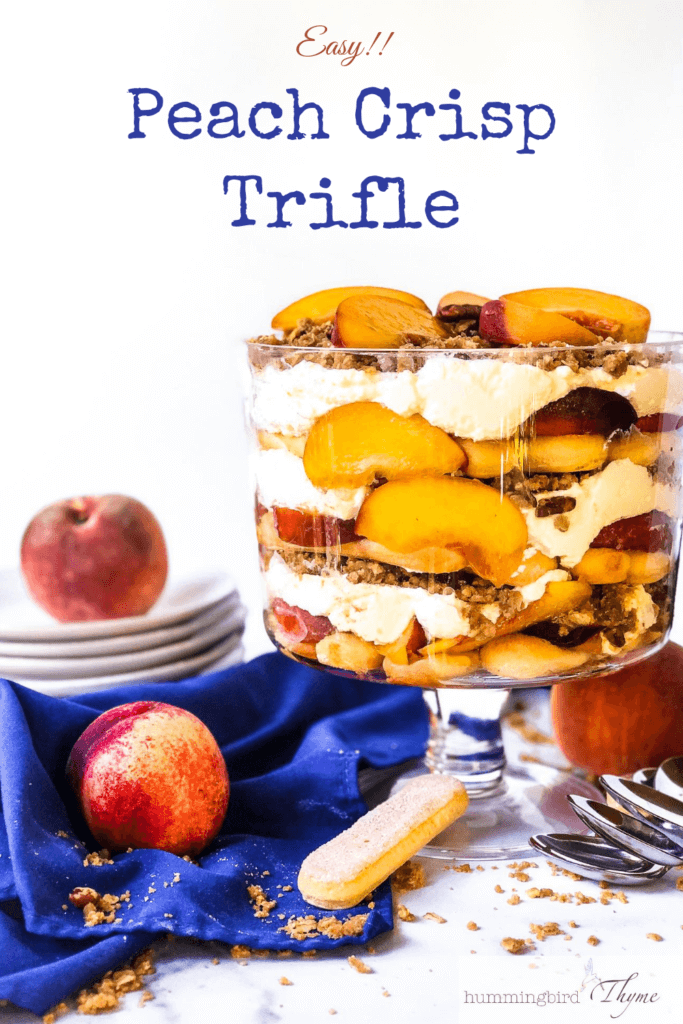 Pinterst Image for Easy Fresh Peach Crisp Trifle