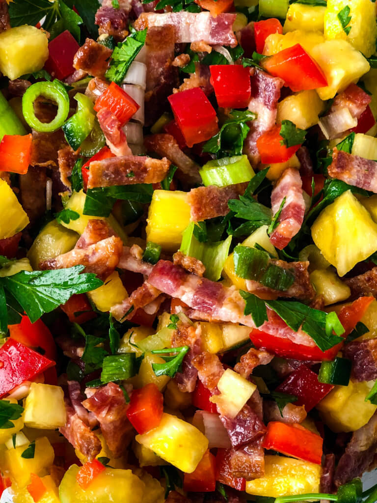 Pineapple Bacon Relish for salmon or chicken