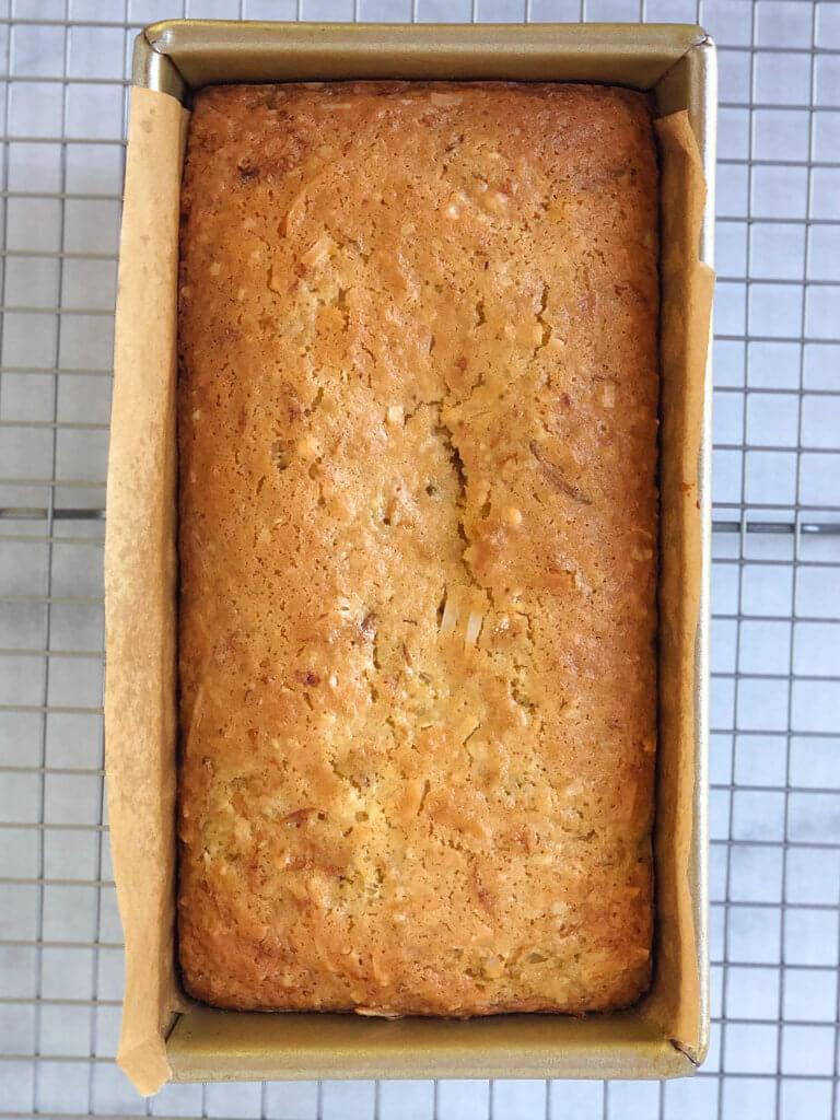 Process shot 6 loaf baked