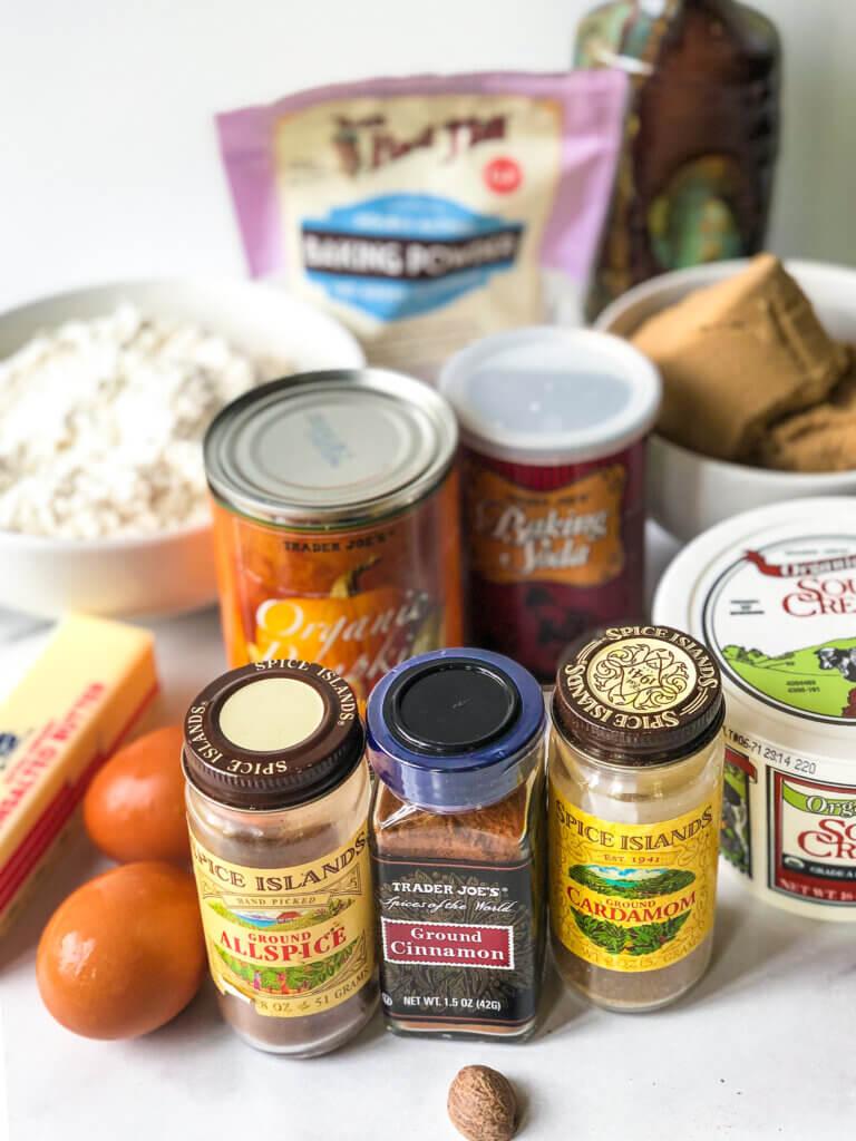 Pumpkin Bundt Cake Ingredients photo