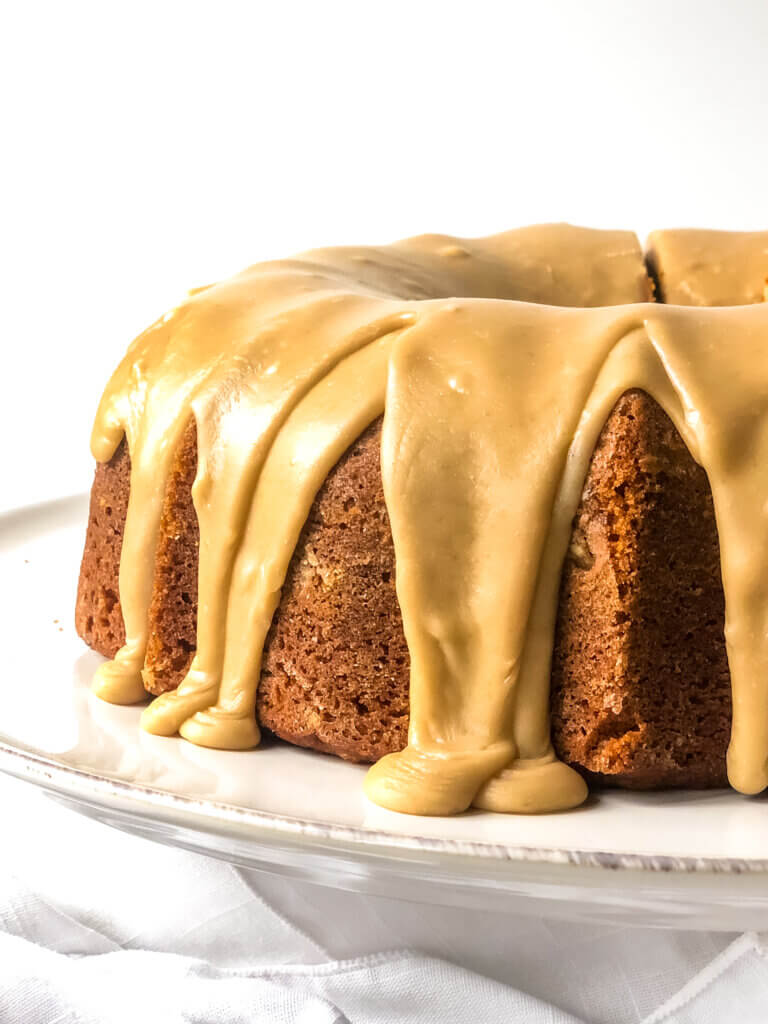 Featured Image for pumpkin Bundt Cake with Penuche frosting