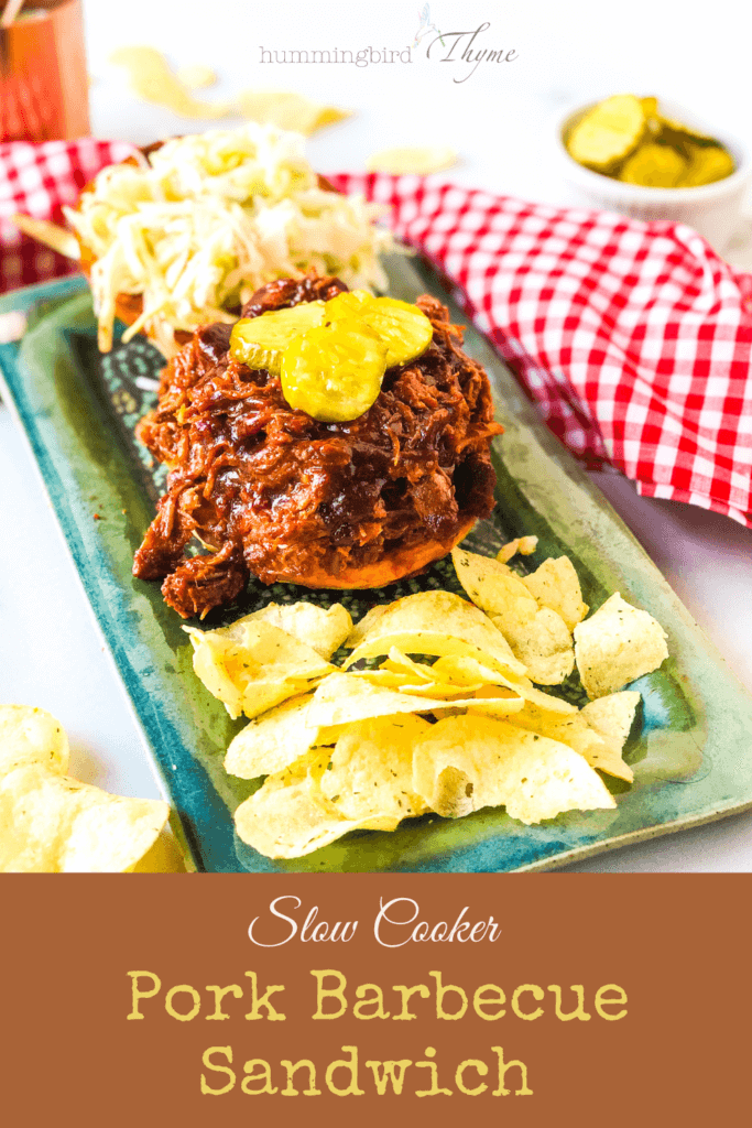Pinterest image for Slow Cooker Pork BBQ