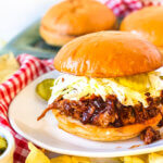 Featured image pulled pork BBQ in Crockpot