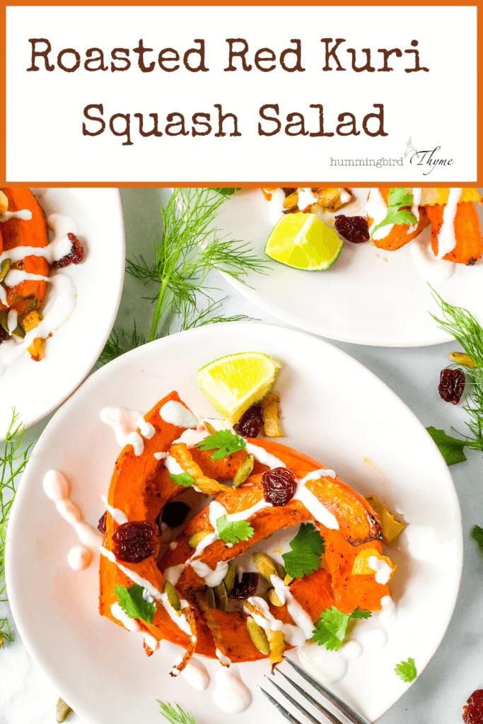 PINTEREST image Red Kuri Squash Salad