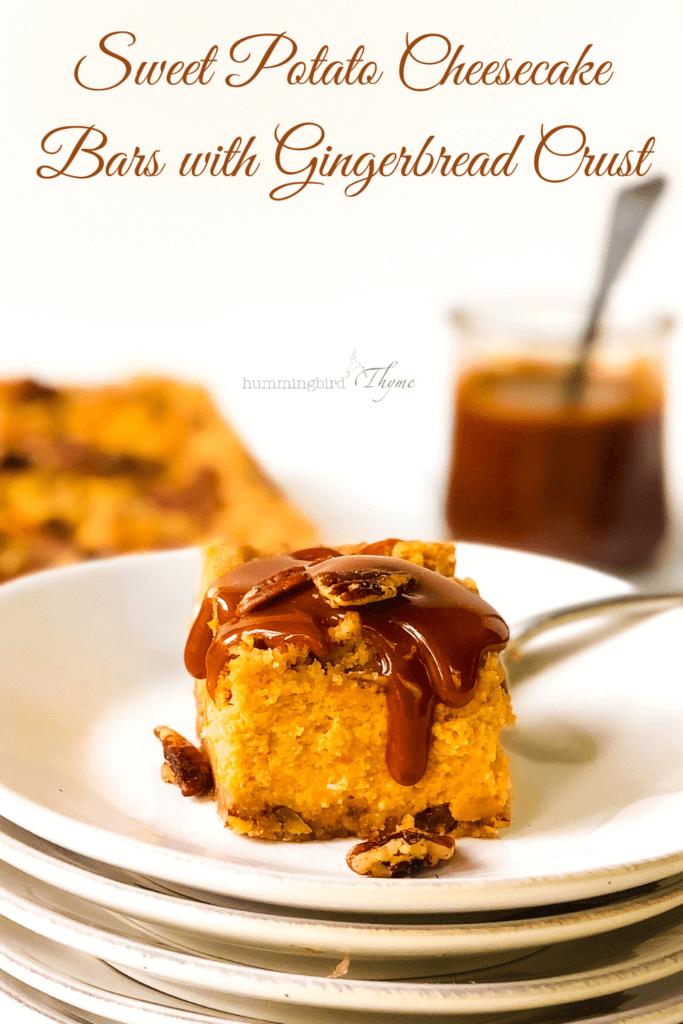Pinterest Image for Sweet Potato Cheesecake Bars
