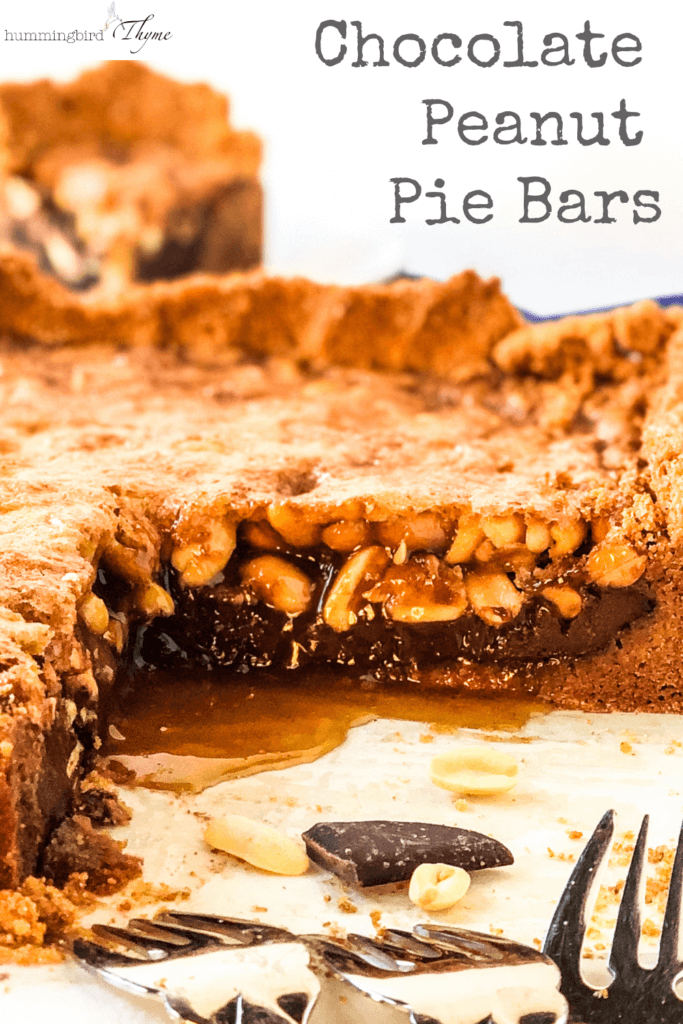 Chocolate Peanut Pie Bars Pinterest Image