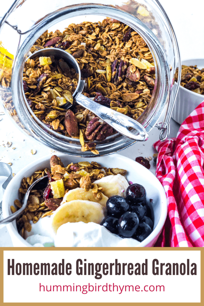 Pinterest Image for Gingerbread Spice Granola