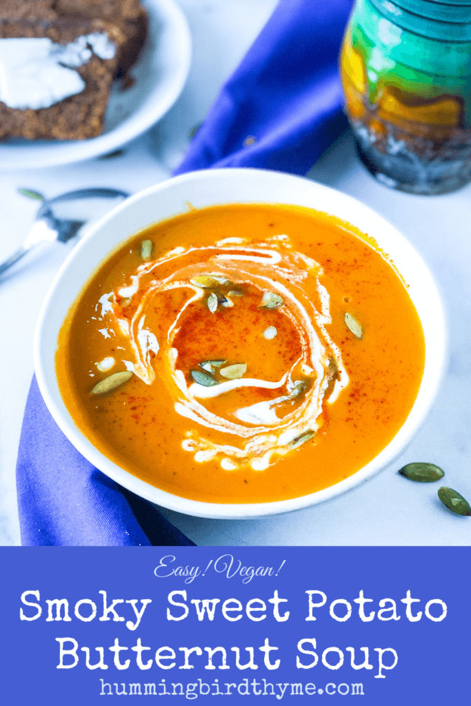 Pinterest Image Sweet Potato Butternut Soup