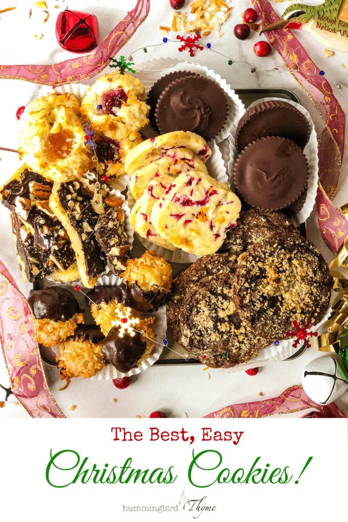 Pinterest Image of Various Christmas Cookies