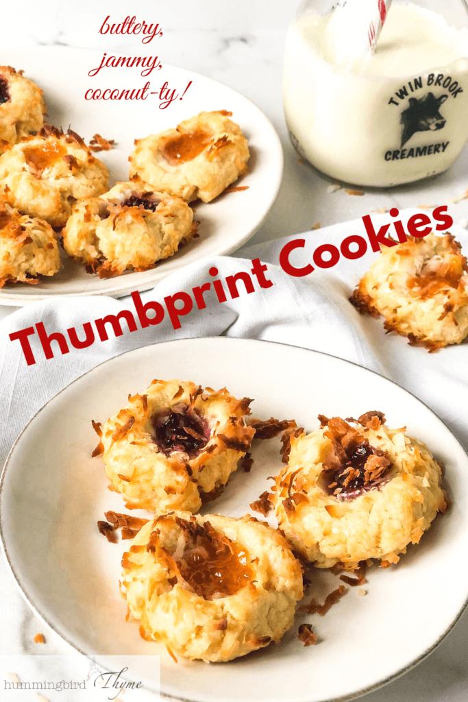 Pinterest Image Jam Thumbprint Cookies