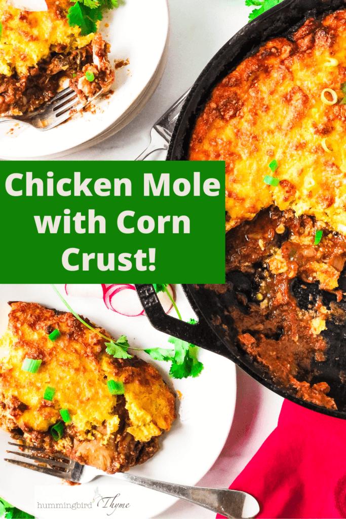 Chicken in Mole Sauce with Crisp Corn Crust