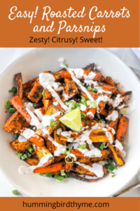 Pinterest Image Roasted Carrots and Parsnips