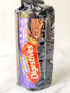 300 g package of chocolate-coated digestive biscuits