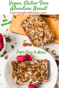 Adventure Bread is filled with nuts and oats - so healthy so delicious and you won't believe how easy to make! No knead, Gluten-Free, and Vegan!