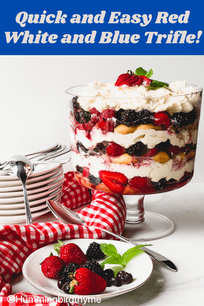 How to make the Easiest, Most Delicious Summer Berry Trifle! Just a few simple steps! Highlights ingredients that stabilize the whipped topping and flavor the trifle!