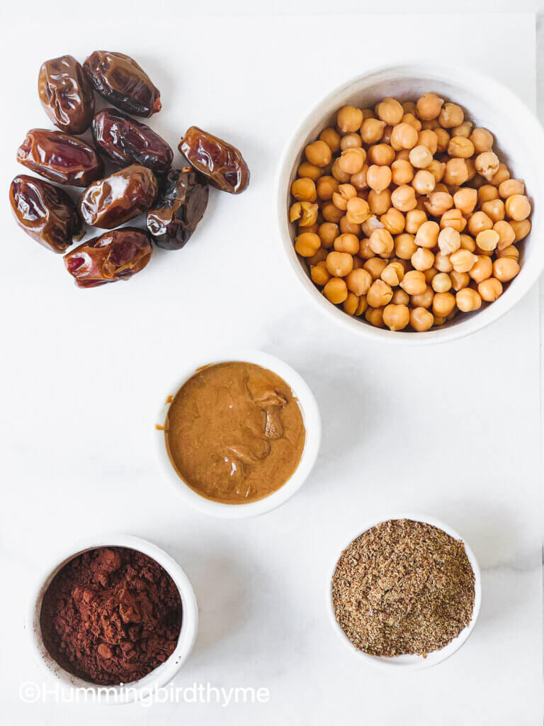 Ingredients for healthy protein balls