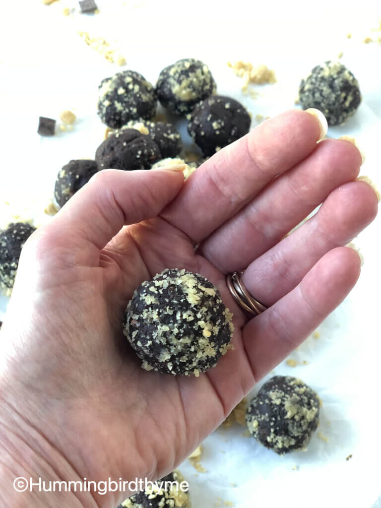 How to make simple Chocolate Peanut Butter Protein Balls