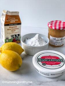 Process Shot for Lemon Blueberry Icebox Cake