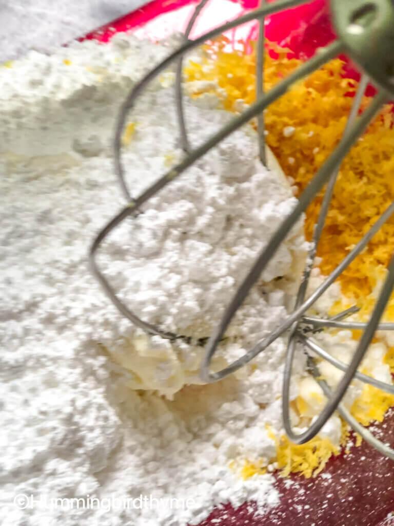 Process shot how to make Mascarpone Whipped Cream