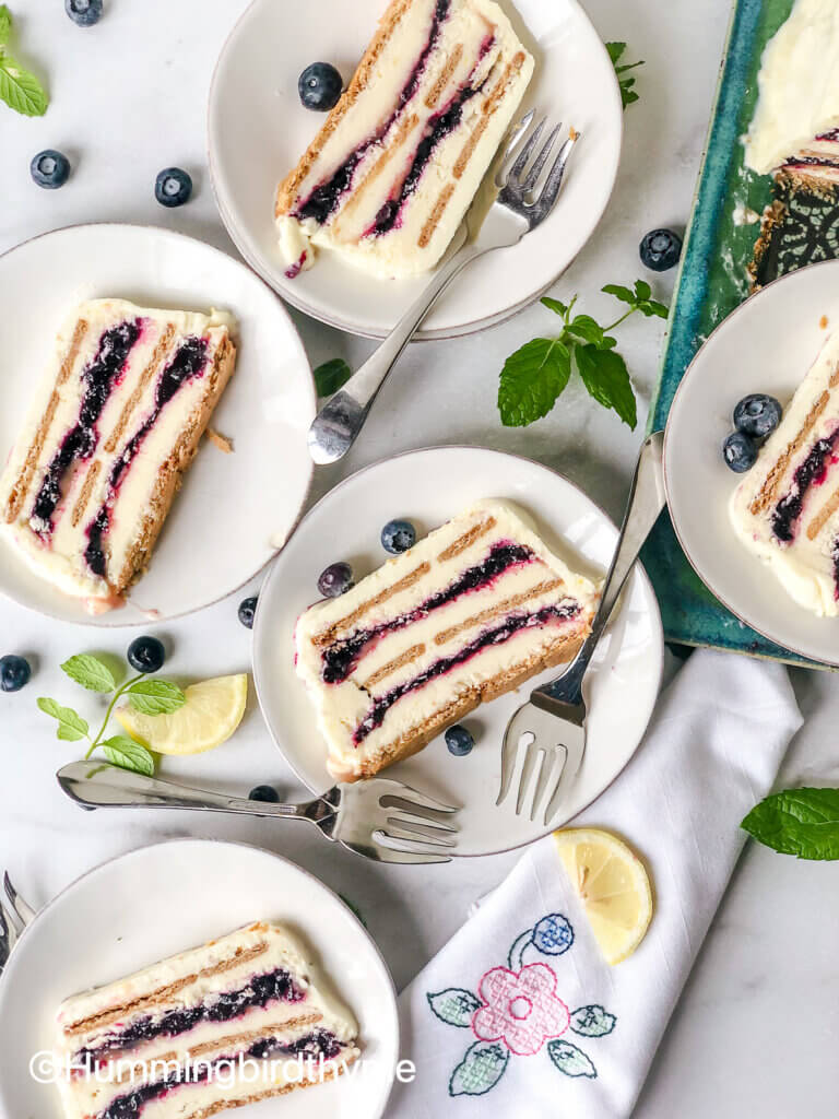 Shows many layers of the icebox cake