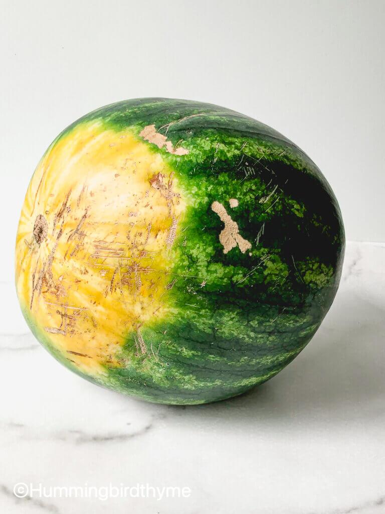 Process shot Watermelon Feta Salad
