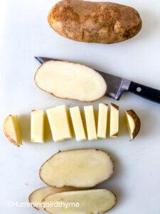 Process shot - how to make crispy roasted potatoes