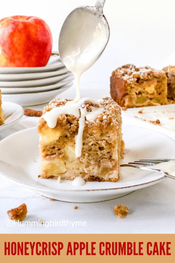Pinterest Pin Honeycrisp Crumb Cake
