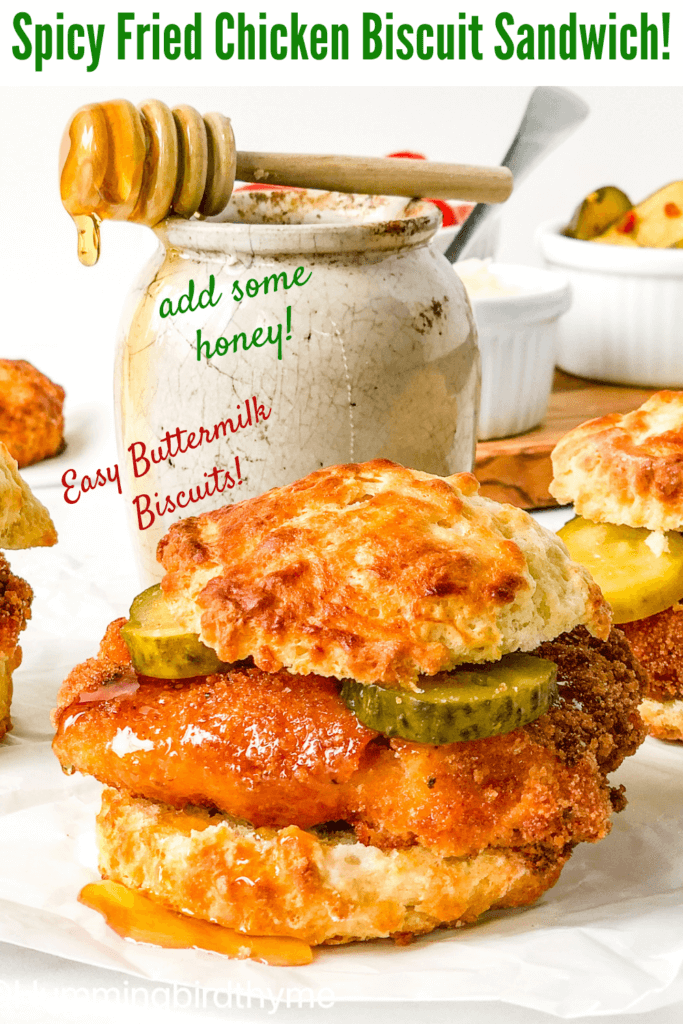 Easy Fried Chicken Sliders on the easiest buttermilk biscuits anywhere!